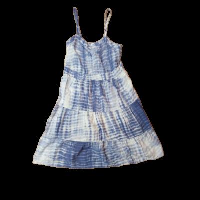 140-es fehér-kék batikolt hatású pamutruha - C&A