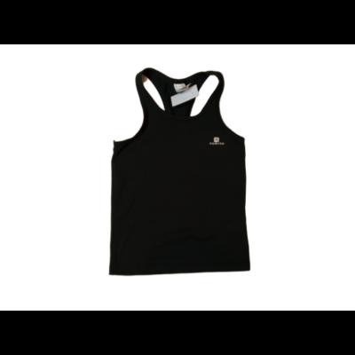 116-os fekete ujjatlan lány sportpóló, fitness póló - Decathlon