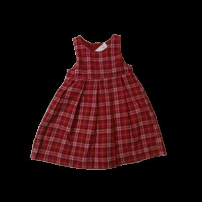 110-es piros kockás szövet ruha - H&M