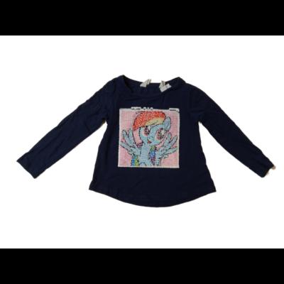 86-92-es kék átfordítható flitteres pamutfelső - My Little Pony - H&M