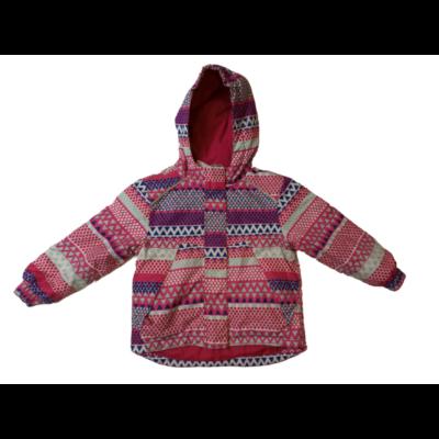 98-104-es pink-kék mintás télikabát, sídzseki - Lupilu
