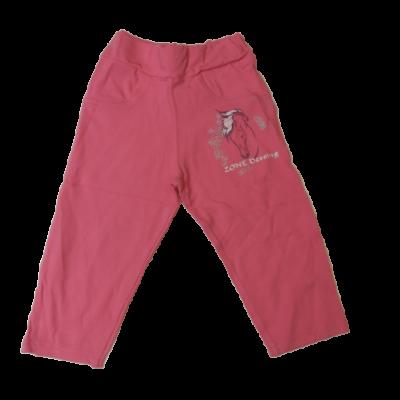 122-es rózsaszín lovas térdig érő nadrág - ÚJ