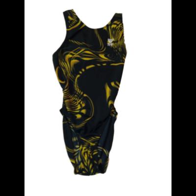 146-152-es fekete-sárga fürdőruha