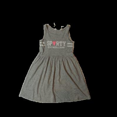 122-128-as szürke feliratos ujjatlan ruha - H&M
