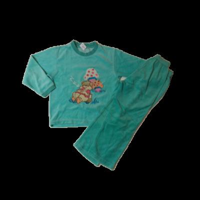 104-es kék macis plüss pizsama