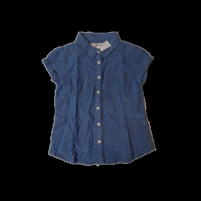 104-es kék rövid ujjú blúz - H&M