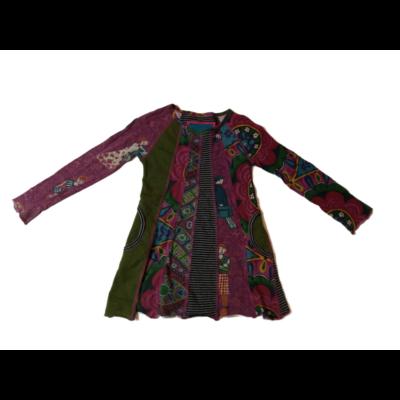 110-116-os zöld-lila ruha - Desigual