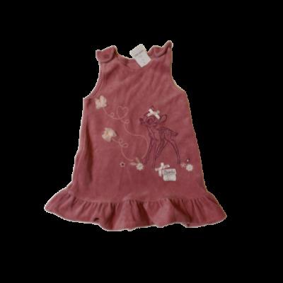 80-as rózsaszín plüss ruha - Bambi
