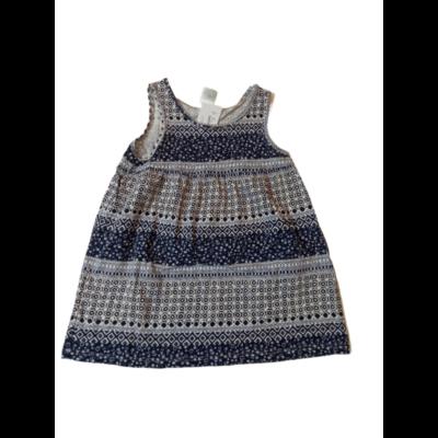 80-as kék mintás ujjatlan ruha - H&M