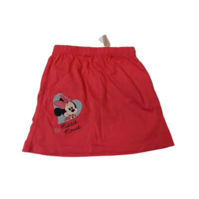 104-es piros pamut szoknya - Minnie Egér