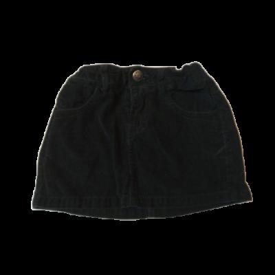 104-es fekete micorkord szoknya - Zara
