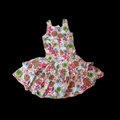 116-os színes virágos ujjatlan ruha