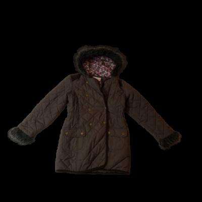 134-140-es barna steppelt kabát lánynak - TU