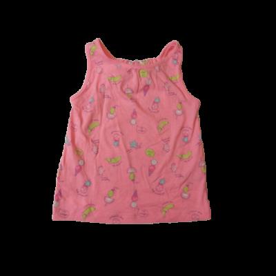 116-os rózsaszín mintás ujjatlan póló - Pepco