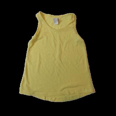 128-134-es sárga ujjatlan lány póló - F&F