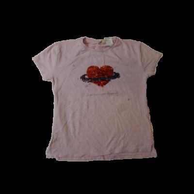 140-es rózsaszín átfordítható flitteres póló - Zara
