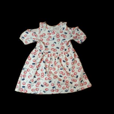 104-es fehér alapon cseresznyés ruha - Pepco