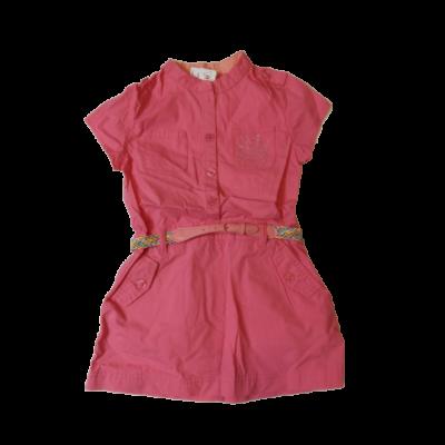 116-os rózsaszín vászonruha - ÚJ