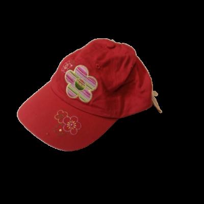 44-46 cm-es fejre piros virágos baseball sapka - ÚJ