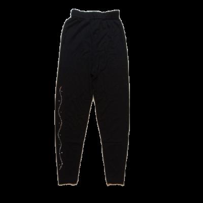 128-as fekete oldalt strasszköves leggings - ÚJ
