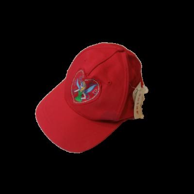 44-46 cm-es fejre piros tündéres baseball sapka - ÚJ