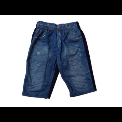 134-es kék farmermintás unisex rövidnadrág - ÚJ