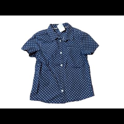 122-es kék-fehér pöttyös rövid ujjú blúz - H&M