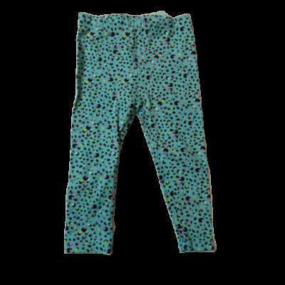 86-os türkiz pöttyös leggings - Pepco - ÚJ