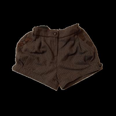 140-es barna kockás rövidnadrág - TU