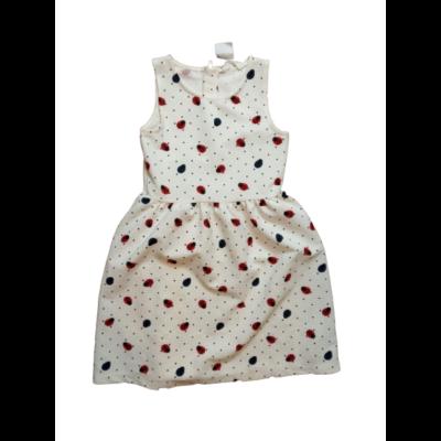 134-140-es fehér alapon katicás ruha - H&M