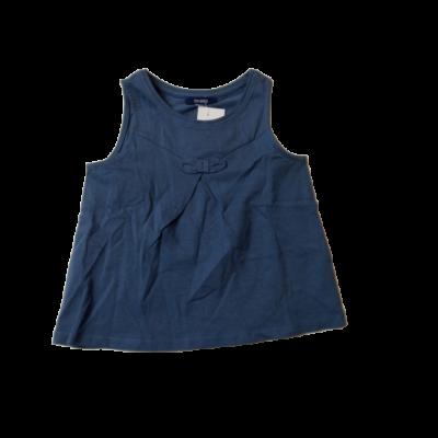 92-98-as szürkéskék ujjatlan lány póló - Okaidi