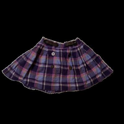 110-es lila kockás rakott szoknya - F&F