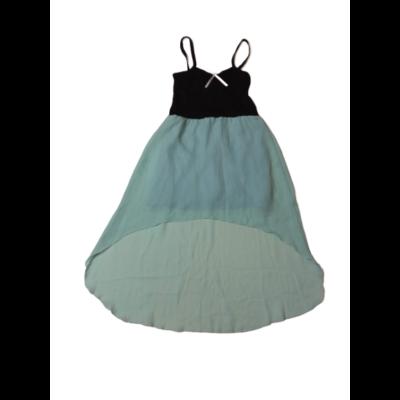 128-134-es fekete-zöld ruha