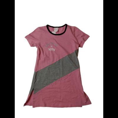 170-es rózsaszín feliratos hosszított póló - ÚJ