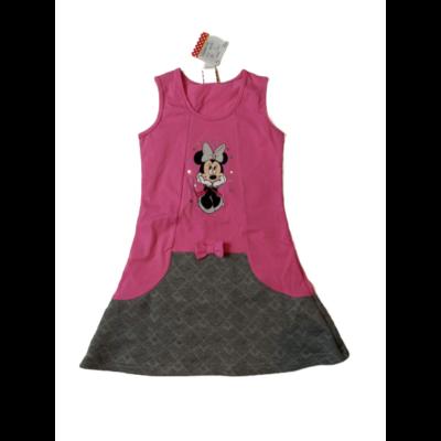 98-as rózsaszín-szürke ujjatlan ruha - Minnie Egér - ÚJ
