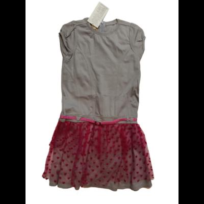 92-es szürke-rózsaszín tüllös ruha - ÚJ