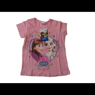 92-es rózsaszín póló - Frozen, Jégvarázs - ÚJ
