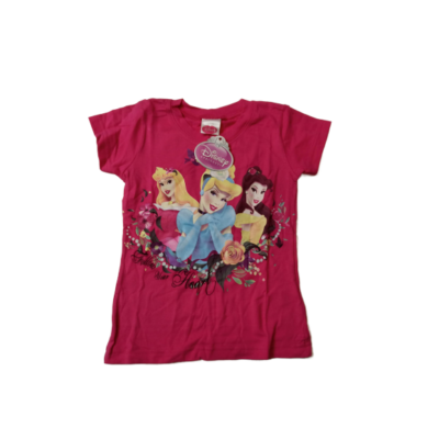 92-98-as rózsaszín póló - Hercegnők - ÚJ
