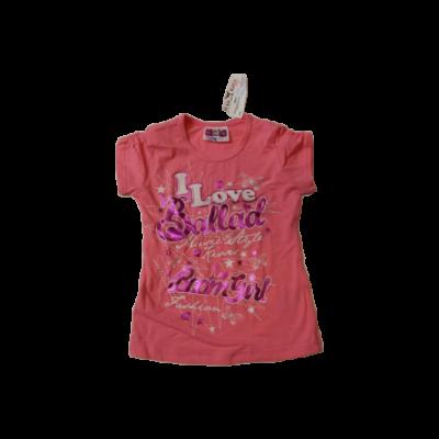 110-es rózsaszín feliratos póló - ÚJ