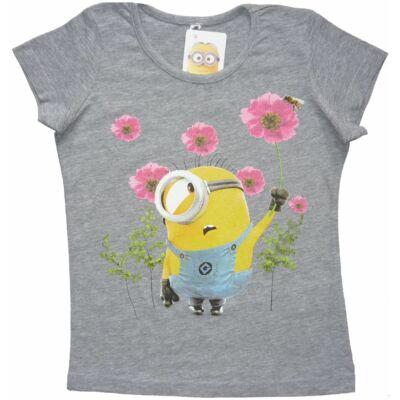 122-es szürke lány póló - Minyonok - ÚJ