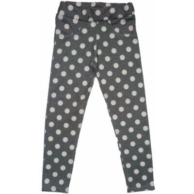 134-es szürke pöttyös leggings jellegű nadrág - ÚJ