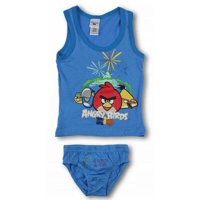 10-12 évesre kék alsónemű szett - Angry Birds - ÚJ