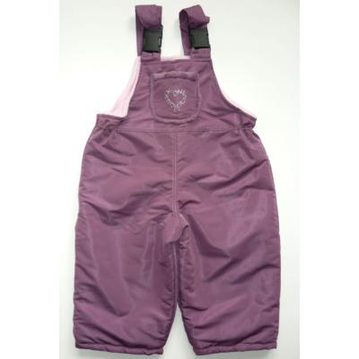 74-80-as lila polár bélésű overallalsó, sínadrág - ÚJ