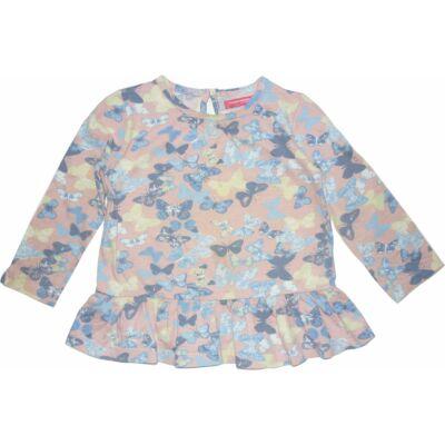98-104-es rózsaszín pillangós pamutfelső - Young Dimension