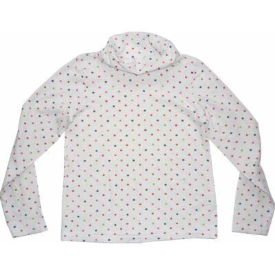 122-128-a fehér színes pöttyös pamutfelső - H&M