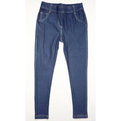 116-os kék farmer hatású sztreccs nadrág - ÚJ