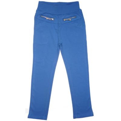 98-as kék lány sztreccs pamutnadrág - ÚJ