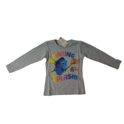 116-122-es szürke pamutfelső lánynak - Némó nyomában - Disney - ÚJ