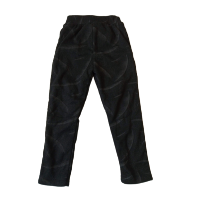 98-as fekete mintás szőrmével bélelt leggings - ÚJ