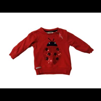 74-es piros katicás flitteres pulóver - Next